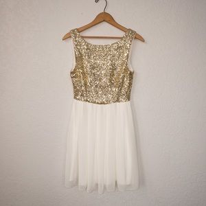 B. Darlin Gold Sequin Dress